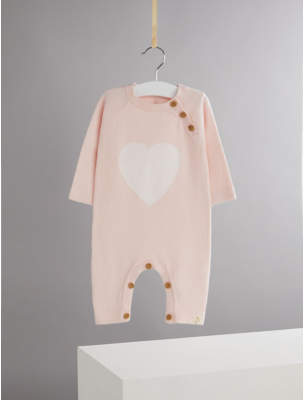 George Billie Faiers Pink Heart Soft Knit Buttoned All-In-One