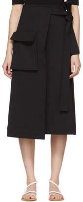 Rosetta Getty Black Wrap Skirt