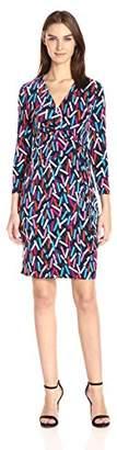 Anne Klein Women's Classic Faux Wrap Dress