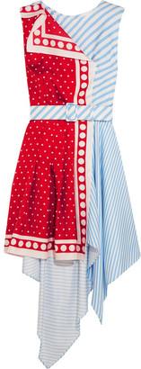 Monse - Asymmetric Printed Silk-twill Mini Dress - Red