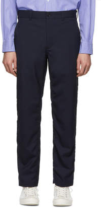 Comme des Garcons Homme Homme Navy Tropical Wool Trousers