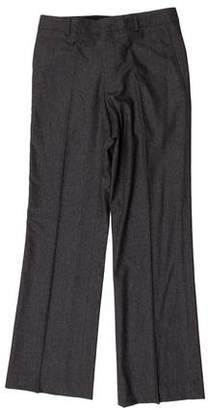 Bottega Veneta Wool Flat Front Dress Pants