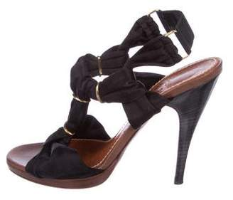 Lanvin Satin Slingback Sandals