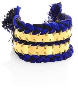 Aurelie Bidermann Copacabana Braided Cuff Bracelet