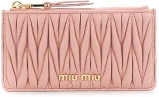Miu Miu matelassé nappa leather card holder