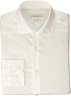 Perry Ellis Men's Very Slim Fit Performance Solid Dress Shirt