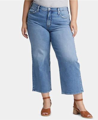 Silver Jeans Co. Trendy Plus Size Cropped Wide-Leg Jeans