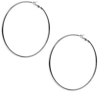a252e220c Kenneth Jay Lane Large Silver Hoop Earrings