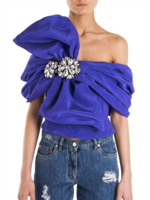 MoschinoMoschino Cropped One-Shoulder Top