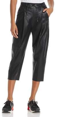 Molly Bracken Faux Leather Track Pants