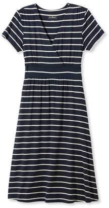 L.L. Bean L.L.Bean Summer Knit Dress, Short-Sleeve Stripe
