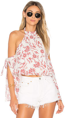 ale by alessandra Malika Halter Top in White $118 thestylecure.com