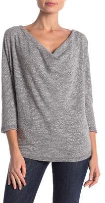 Three Dots Marled Knit Cowl Neck Tee