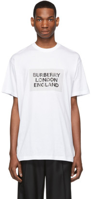 Burberry White London England T-Shirt