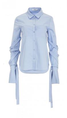 Satin Poplin Strappy Shirt $325 thestylecure.com