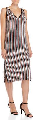 Lush Striped Knit Midi Dress