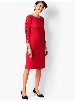 Talbots Refined Scallop-Edge Ponte Sheath