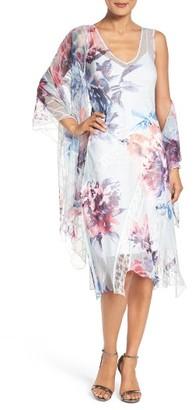 Women's Komarov Lace & Chiffon Dress With Shawl $458 thestylecure.com