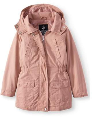 Beverly Hills Polo Club Cotton Anorak Jacket with Pockets (Little Girls & Big Girls)