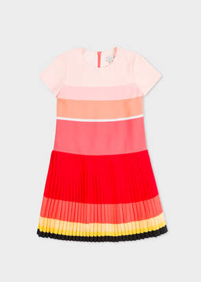Paul Smith Girls' 2-6 Years Multi-Coloured Stripe Pleated Dress