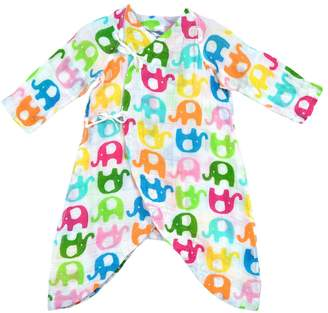 I Play Baby Girl Brights Organic Muslin Wrap Gown