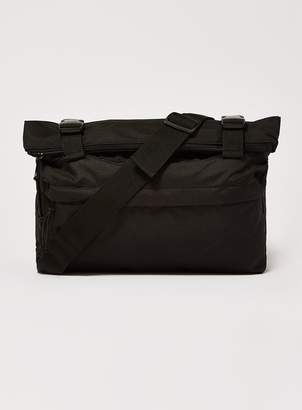 Topman Black Cross Body Zip Roll Bag