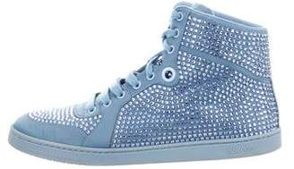 Gucci Strass High-Top Sneakers