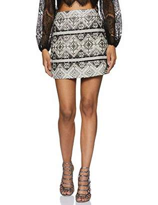 Serene Bohemian Women's Fashion Club Wear Party Sparkle Sequin Beads Short Skirt (