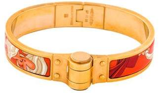 Hermes Enamel Hinged Bracelet