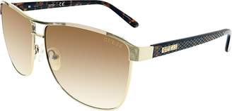 GUESS Women's Gradient GUF255-GLD-34 Aviator Sunglasses
