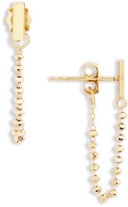 Poppy Finch Baby Bar 18K Gold Wraparound Earrings