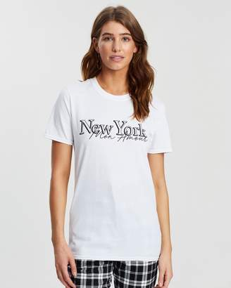 Missguided New York Slogan T-Shirt