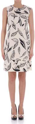 Aspesi Leafy Print Short Dress