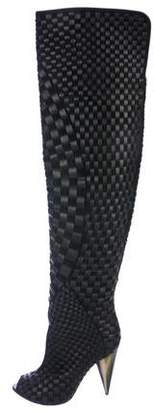 Tom Ford Woven Over-The-Knee Boots