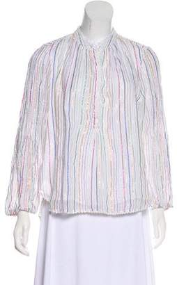 Apiece Apart Striped Long Sleeve Top