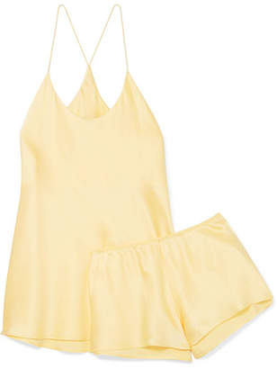 Olivia von Halle - Bella Silk-satin Pajama Set - Yellow