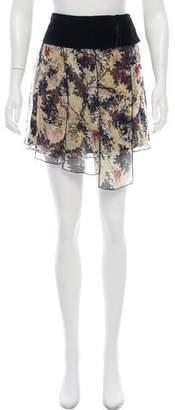 Diane von Furstenberg Velvet-Trimmed Mini Skirt w/ Tags