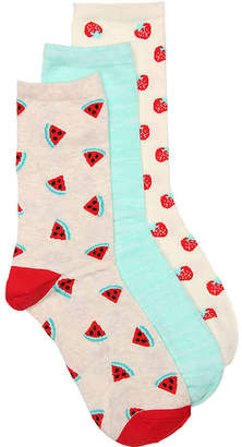 Kelly & Katie Watermelon Crew Socks - 3 Pack - Women's