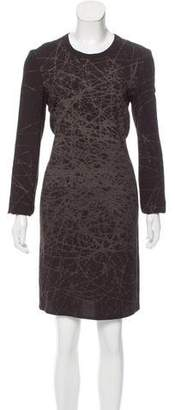 Calvin Klein Collection Printed Crepe Dress w/ Tags
