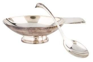 Christofle Gallia Silverplate Sauce Boat & Ladle