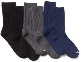 Gap Ribbed dress crew socks (3-pack)