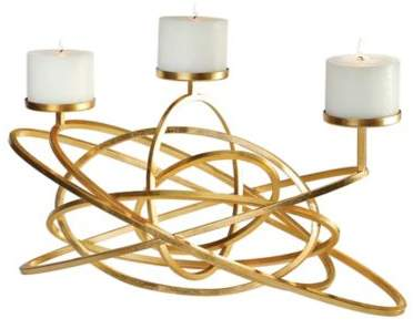 Mishka Candleholder in Gold