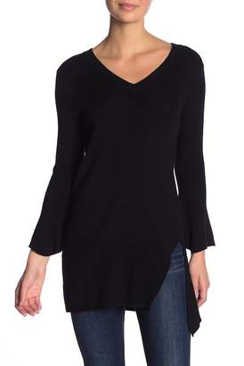 Splendid V-Neck Asymmetrical Side Slit Sweater