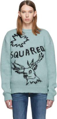 DSQUARED2 Blue Logo Reindeer Sweater