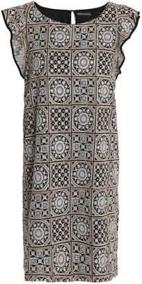 Antik Batik Embellished Embroidered Gauze Mini Dress