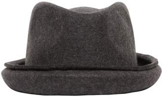 Isabel Benenato Raw Cut Wool Felt Hat