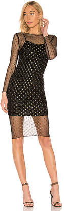 by the way. Jaymee Mesh Lurex Midi Dress