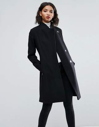 ASOS Smart Slim Coat with Funnel Neck $127 thestylecure.com