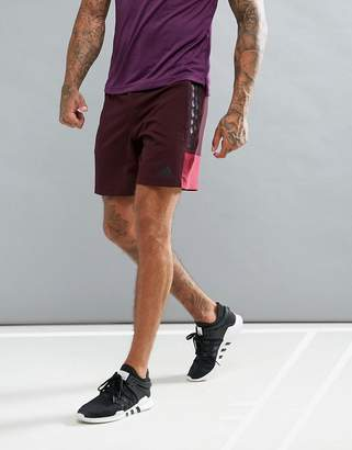 adidas Training woven shorts in red br3747