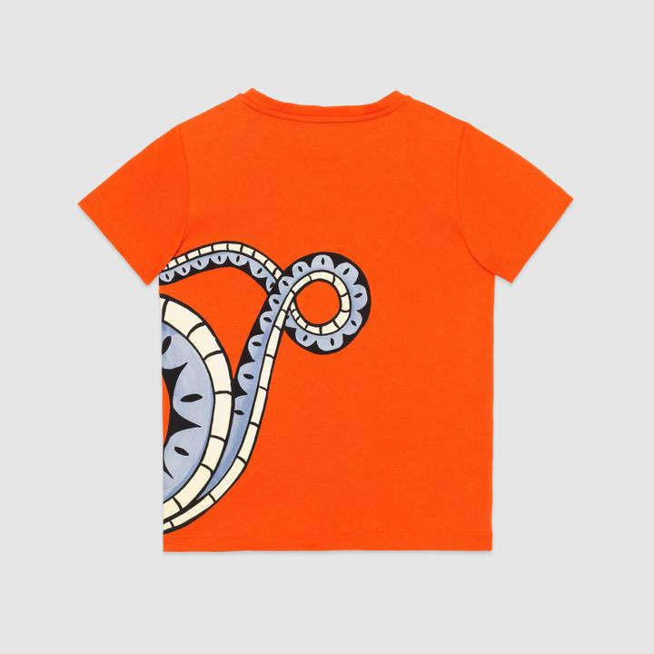 "Children's cotton t-shirt with ""Modern Future"" print 9"